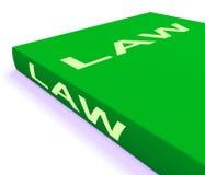 На книгу по праву показано книги о законном правосудии иллюстрация штока