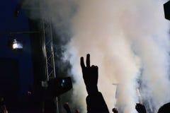 На концерте Стоковая Фотография