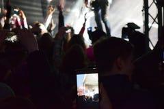 На концерте Стоковое Фото