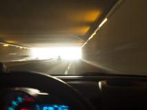 Над кораблем скорости в тоннеле стоковые фото
