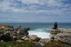 На краю земли, Atlantic Ocean, порт Стоковое Изображение RF