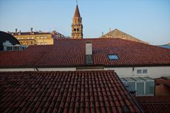 Над крышами Стоковые Изображения