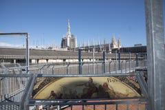 На крыше галереи к в милану Стоковое Фото