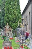 На кладбище St Peter в Зальцбурге Стоковое Изображение RF