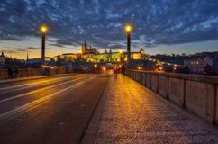 На мосте Стоковые Фото