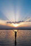 На на заходе солнца Стоковые Фотографии RF