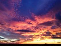 На небесах огня Стоковые Изображения
