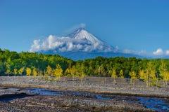 На дне куря volcanno Стоковое Изображение RF