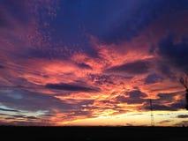 На облаках огня Стоковые Фото