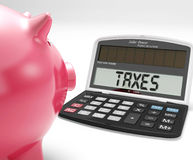 Налоги на калькуляторе показывают налоговую декларацию подоходного налога Стоковые Фотографии RF