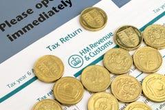 Налоговая декларация Великобритания стоковое изображение