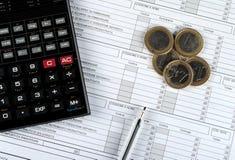 Налоговая форма итальянки 730, вариант 2015 Стоковая Фотография RF