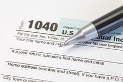 Налоговая форма подоходного налога Стоковое Изображение RF