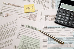 Налоговая форма 1040, u S Налоговая декларация личного подоходного налога Стоковое Фото