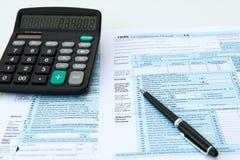 Налоговые формы Стоковые Изображения RF