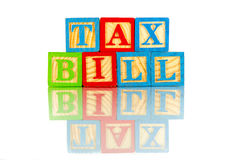 Налоговый законопроект Стоковая Фотография