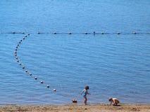 На озере Стоковое Изображение RF