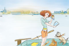 На озере Стоковые Изображения