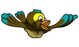 над океаном летания птицы темным раскройте крыла чайки Стоковые Изображения RF
