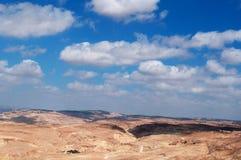 На дороге к мертвому морю, Джордан, Ближний Восток Стоковое Изображение