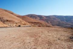 На дороге к мертвому морю, Джордан, Ближний Восток Стоковые Изображения RF