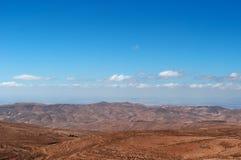 На дороге к рому вадей, Джордан, Ближний Восток Стоковое Фото