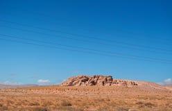 На дороге к рому вадей, Джордан, Ближний Восток Стоковая Фотография