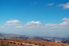 На дороге к рому вадей, Джордан, Ближний Восток Стоковые Фотографии RF