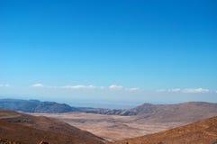 На дороге к рому вадей, Джордан, Ближний Восток Стоковая Фотография RF