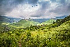На дороге к Drakensberg Стоковое фото RF