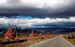 На дороге к Shangrila, Китай Стоковая Фотография