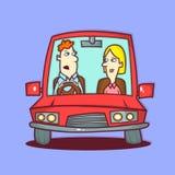 На дороге бесплатная иллюстрация