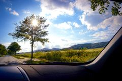 На дороге Стоковые Фотографии RF