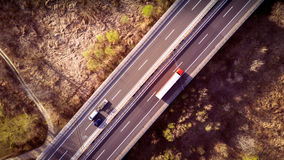 Над дорогой Стоковое Фото