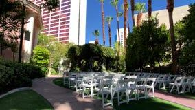 На открытом воздухе место для свадеб сток-видео