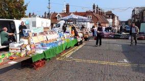 На открытом воздухе рынок, Sheringham, Норфолк, Великобритания стоковые фото
