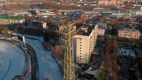 На открытом воздухе стадион в зиме сток-видео