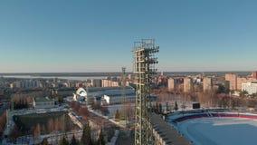 На открытом воздухе стадион в зиме видеоматериал