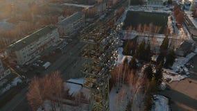 На открытом воздухе стадион в зиме акции видеоматериалы