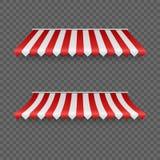 На открытом воздухе тенты Striped шатры или крыша ткани для рынка Красный и белый навес r бесплатная иллюстрация