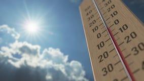 На открытом воздухе термометр достигает 15 15 градусов стоградусного 3D анимация прогноза погоды родственная бесплатная иллюстрация