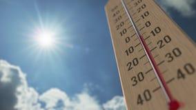 На открытом воздухе термометр достигает 10 10 градусы стоградусного 3D анимация прогноза погоды родственная бесплатная иллюстрация