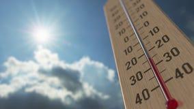 На открытом воздухе термометр достигает минус 10 10 градусы стоградусного 3D анимация прогноза погоды родственная иллюстрация вектора
