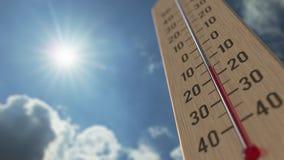 На открытом воздухе термометр достигает 0 нул 3D анимация прогноза погоды родственная акции видеоматериалы