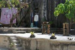 На одном необитаемом острове, сердце сердца молитве безукоризненного Mary около El Nido, Palawan, Филиппин Стоковое Изображение