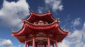 На пагоде гусыни территории гигантской одичалой или большой одичалой пагоде гусыни, буддийская пагода расположенная в южном Xian, акции видеоматериалы