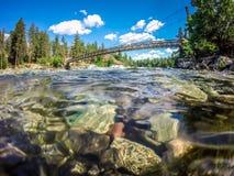 На парке штата шара и кувшина берега реки в spokane Вашингтоне стоковая фотография rf