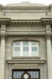 Надписи и часы здания суда Walla Walla Washington County Стоковая Фотография