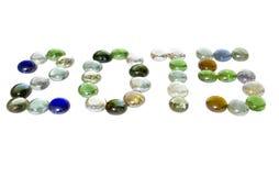 Надпись две тысячи 15 стеклярусов Стоковые Изображения RF