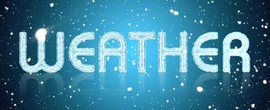 Надпись в большой погоде писем Стоковое Изображение RF